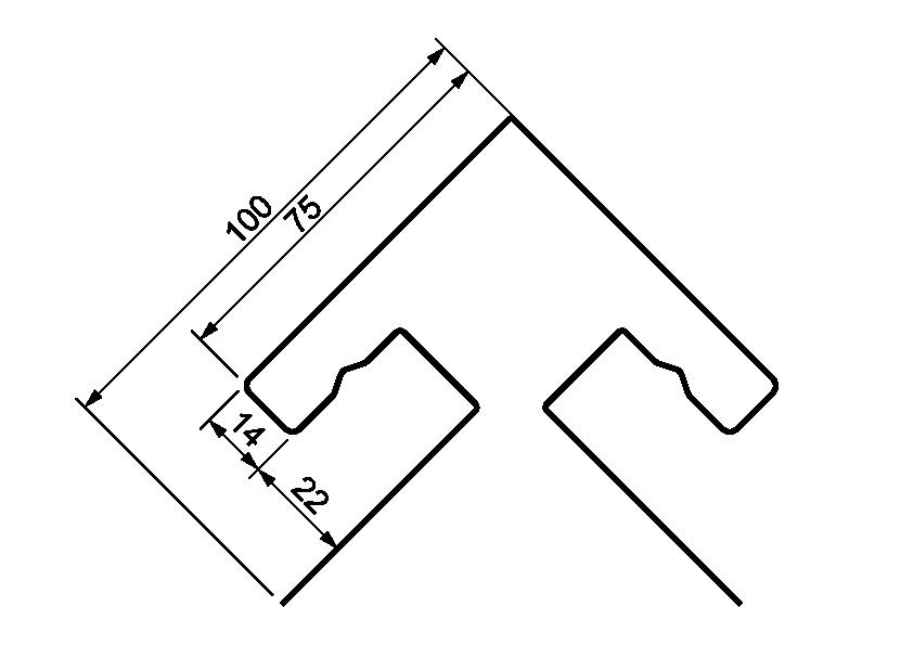 Я-фасад(угол прямой)размеры