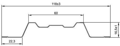 Штакетник(Trapeze)размеры